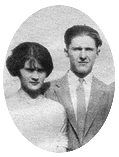 Young sweethearts Mary Tiernan and her husband Chester B Norris.