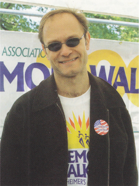 "Actor David Hyde Pierce as photographed by Ann Hauprich when he led the ""Walk the Miles with Niles"" Memory Walk in Saratoga Springs in September 2001. At the time, David was co-starring as Dr. Niles Crane on the popular TV sit-com FRASIER."