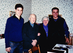 Donald and Audrey Hauprich with Marcio Melo and his son Gabriel during 2013 visit to Ballston Spa NY.
