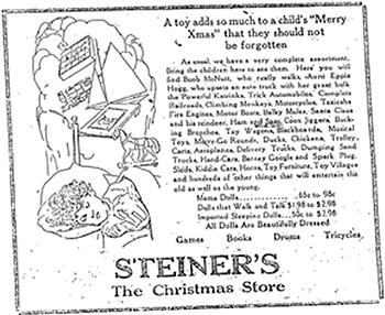 Steiner's in Ballston Spa of a byegone era
