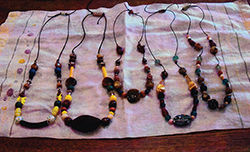 Bead necklaces by Lorraine Spaziani